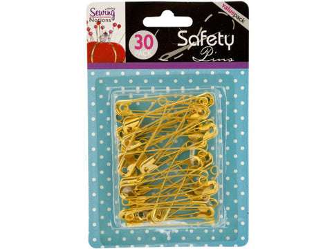 Jumbo Brass Safety Pins