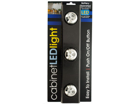 9-LED Under-Cabinet Light with Rotating Lights