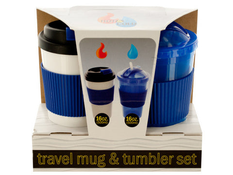 2-Piece 16-Ounce Hot & Cold Travel Mug & Tumbler Set