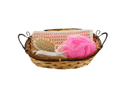 Bath Set in Wicker Basket