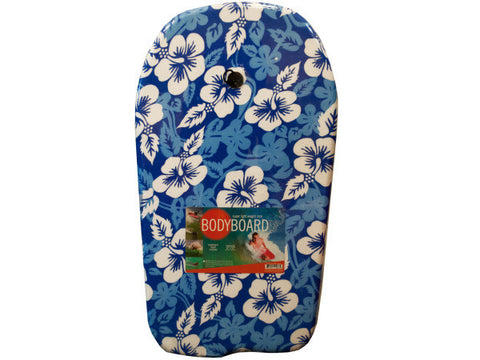 Blue Patterns Bodyboard with Leash