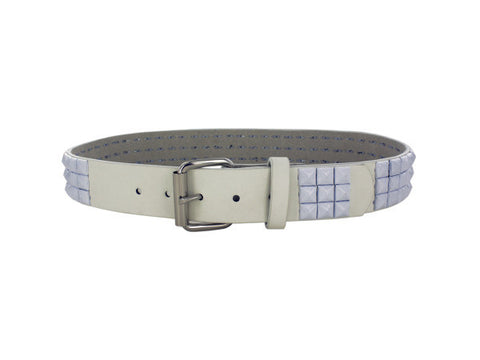 Large White Pyramid Studded Belt