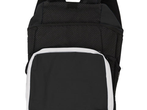 Black & White Backpack with Pockets