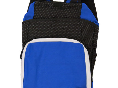 Royal Blue & Black Backpack with Pockets