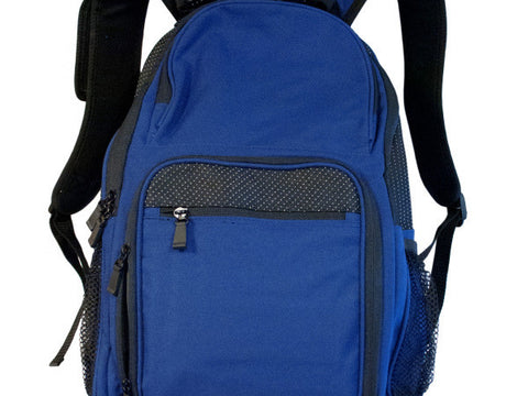 Black & Royal Blue Backpack with Pockets