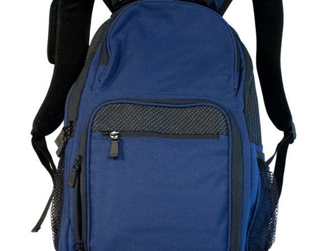 Navy Blue & Black Backpack with Pockets