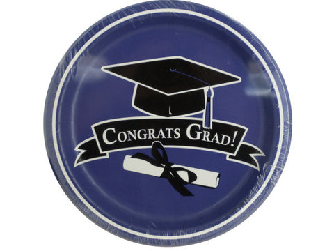 Congrats Grad Purple Party Plates