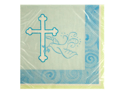 Blue Faithful Dove Beverage Napkins