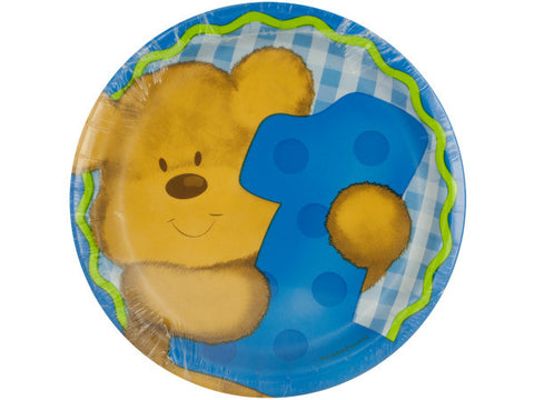 Boy's First Birthday Plates Set