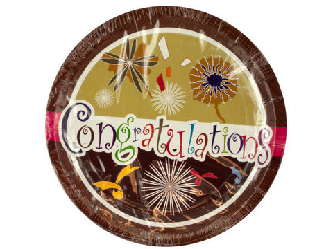 Congratulations Party Dinner Plates