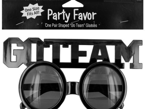 Go Team Shaped Party Favor Glasses