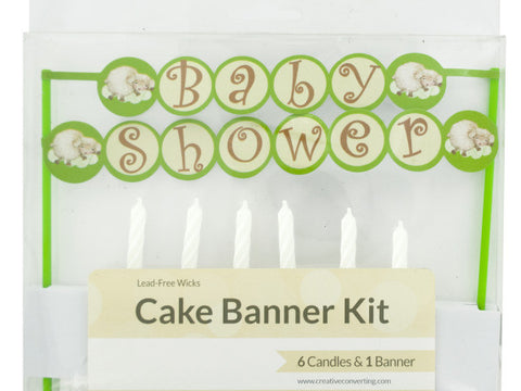 Baby Shower Cake Banner & Candles Kit