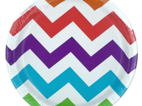 Colorful Chevron Party Plates