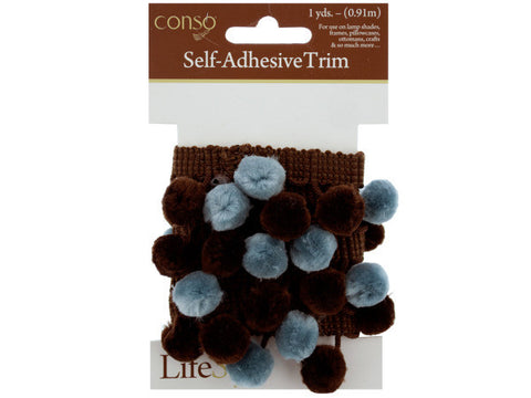 Brown & Blue Self Adhesive Decorative Trim