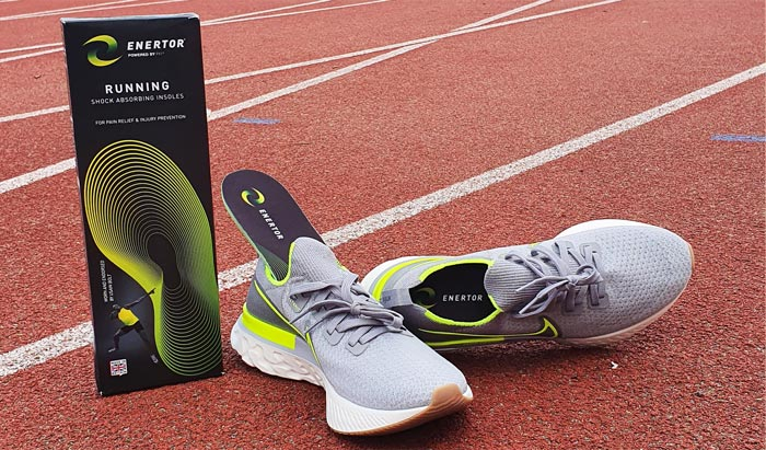 Running Insoles on an Athletics track