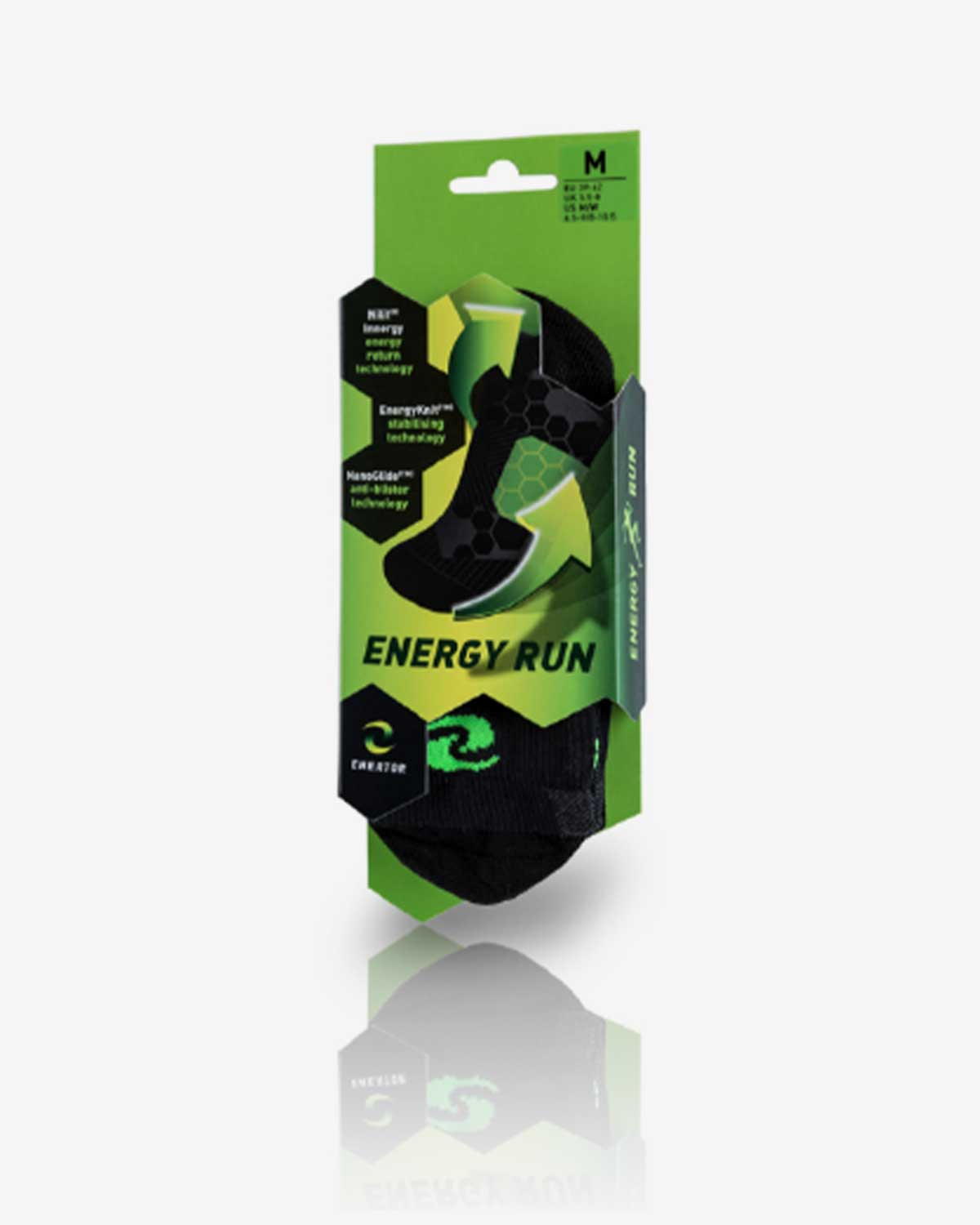 Enertor Specialist Running Socks Packaging