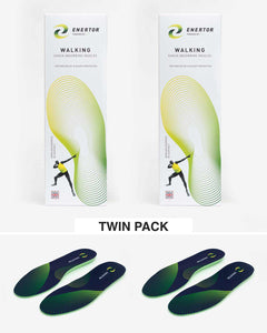 Enertor Walking Blue Insoles Twin Pack (2 pairs)