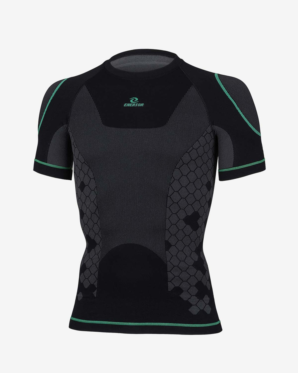Enertor Black Base Layers Top - Front