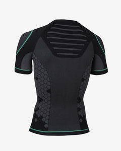 Enertor Black and Green Base Layers Top - Back