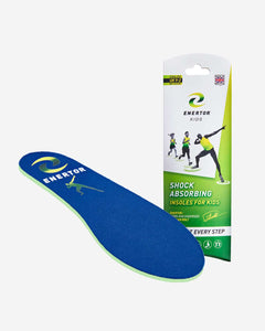 Enertor kids blue shock absorbing insoles
