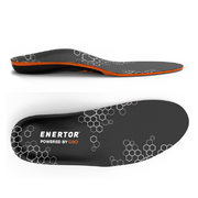 Enertor Performance insole side and top view for pain and injury reduction