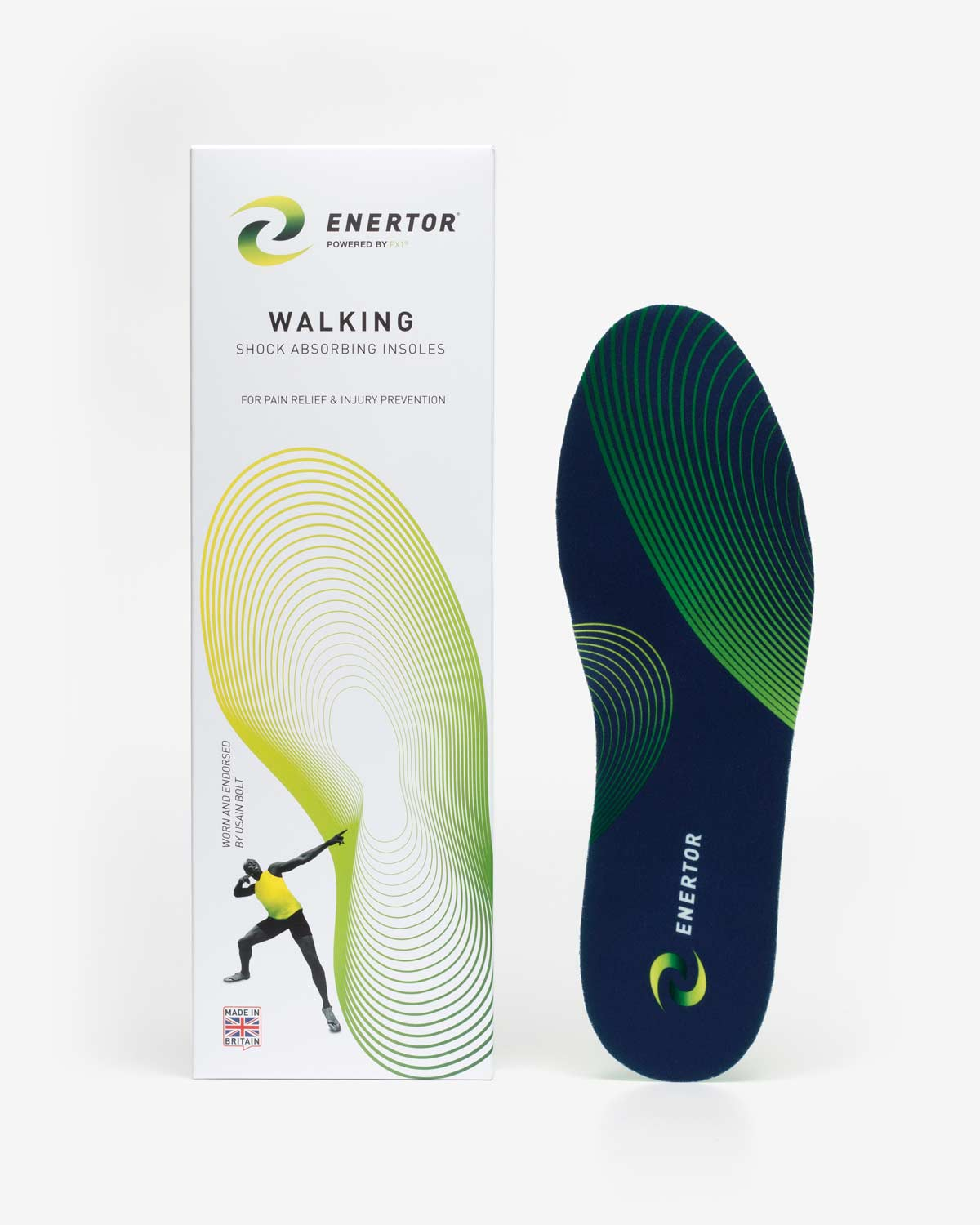 Enertor Walking Insoles  with White Packaging