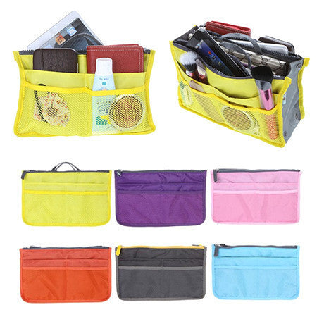 Slim Bag-in-Bag Purse Organizer - Assorted Color , Make Up Brush - MyBrushSet, My Make-Up Brush Set  - 2