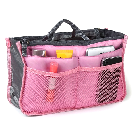 Slim Bag-in-Bag Purse Organizer - Assorted Color , Make Up Brush - MyBrushSet, My Make-Up Brush Set  - 14