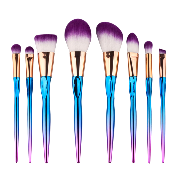 8 Piece Rainbow Mermaid Brush Set    [Pre-Release] , Make Up Brush - My Make-Up Brush Set - US, My Make-Up Brush Set  - 1