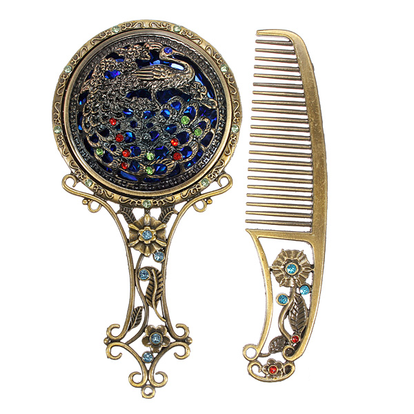 Vintage Hair Comb and Mirror