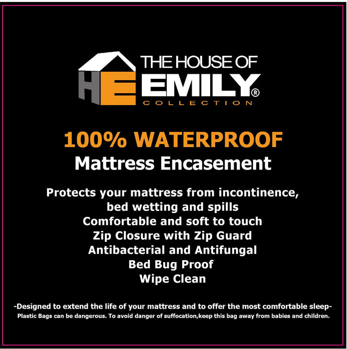 Incontinence Mattress Protector Encasement 100% Waterproof Anti Bacterial | 4 Sizes