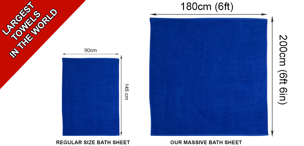 Super Jumbo Bath Sheet 600gsm 100% Cotton 180cm x 200cm