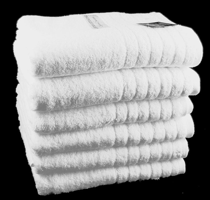 White Bath Sheets 100% Cotton 550 gsm - Pack of 2