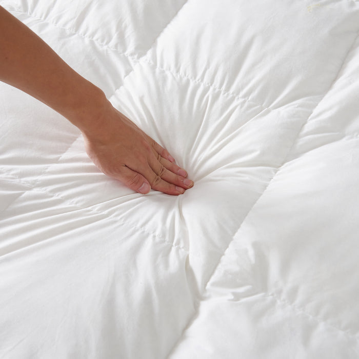 "Hotel Quality Mattress Topper Cluster Ball Fibre 4"" (10cm) Thick"