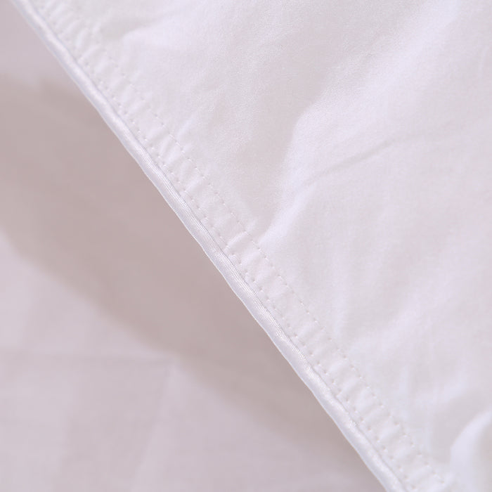 White Goose Feather and Down Duvet 100% Cotton Anti Dust Mite & Down Proof Fabric