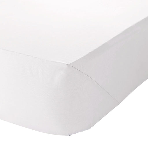 White Egyptian Cotton Double Fitted Sheet Fully Elasticated 400 TC Percale