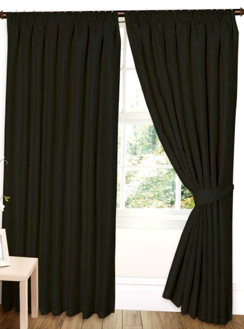 Jacquard Curtain Pair Pencil Pleated Floral Design Fully Lined | 7 Sizes | 2 Colours