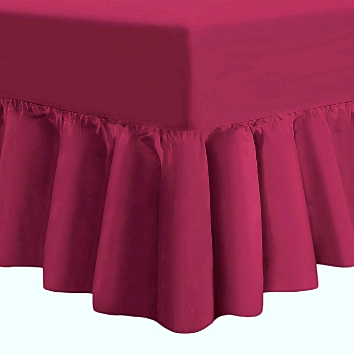 Frilled Fitted Valance Sheet Extra Deep | 5 Bed Sizes | 5 Colours
