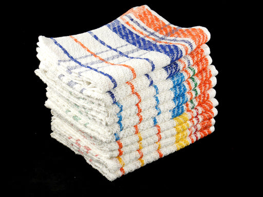 Cheap Hand Towels Striped 100% Cotton Budget Quality 360 gsm Pack of 12