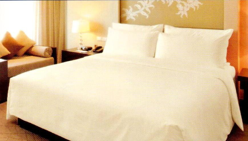 500TC Egyptian Cotton Percale Flat Sheet Cream Double Size