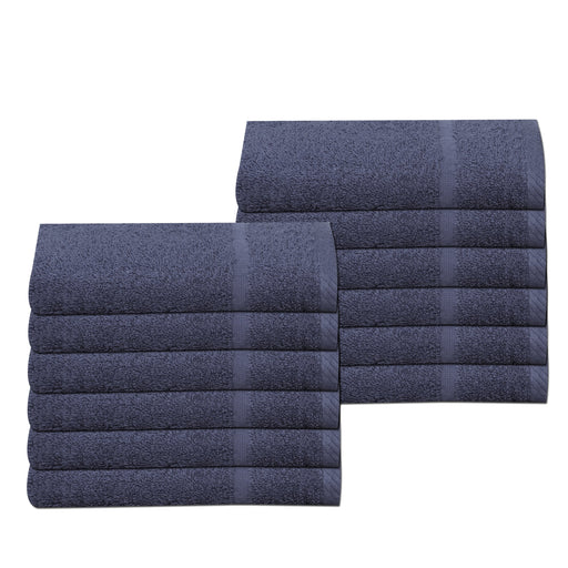 Dark Blue Hand Towels 100% Cotton 400 gsm