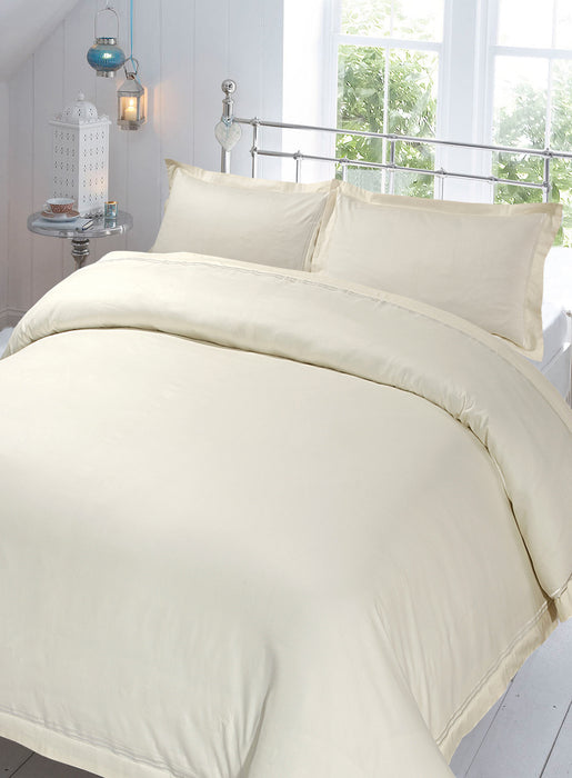 100% Cotton Sateen Baratta Stitch Duvet Cover Sets 220 Tc with Oxford Pillowcase(s)