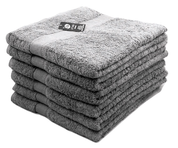 grey hand towels 100% cotton
