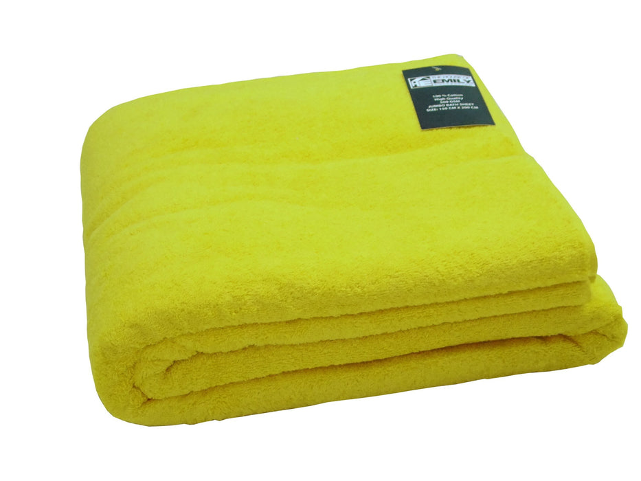 Jumbo Bath Sheet Extra Large 500gsm 100% Cotton 150cm x 200cm
