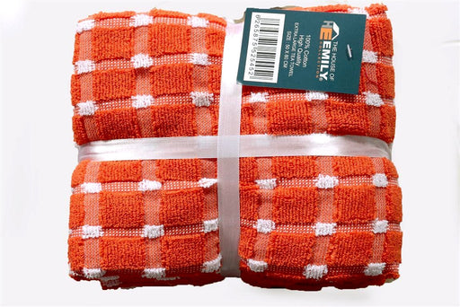 thick orange tea towels