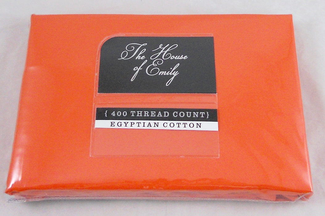 Orange Superking Size Pillowcases Egyptian Cotton 400Tc Pack of 2
