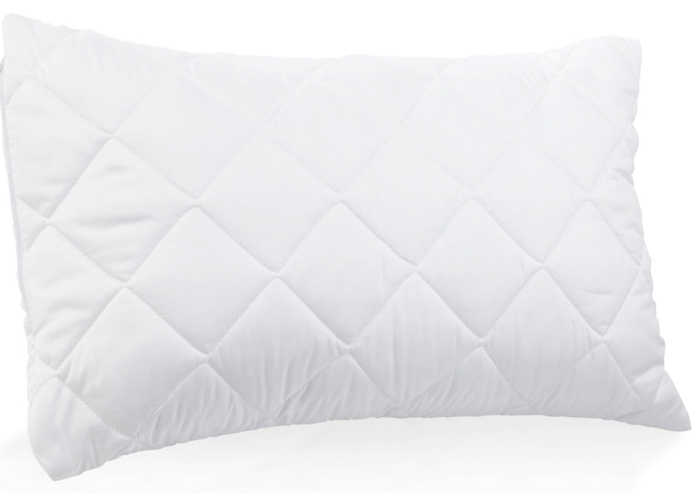 Zipped Pillow Cases Protectors Pack of 4 Quilted Microfibre Hypo Allergenic Soft Smooth Touch - Pre Order In Stock 25/06/2021