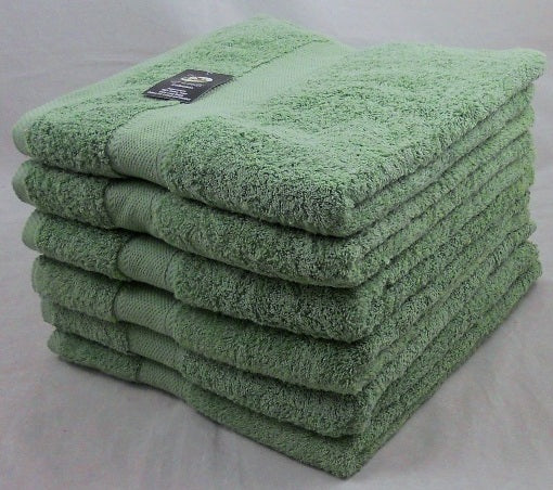 Green Bath Towels 100% Cotton 500 gsm