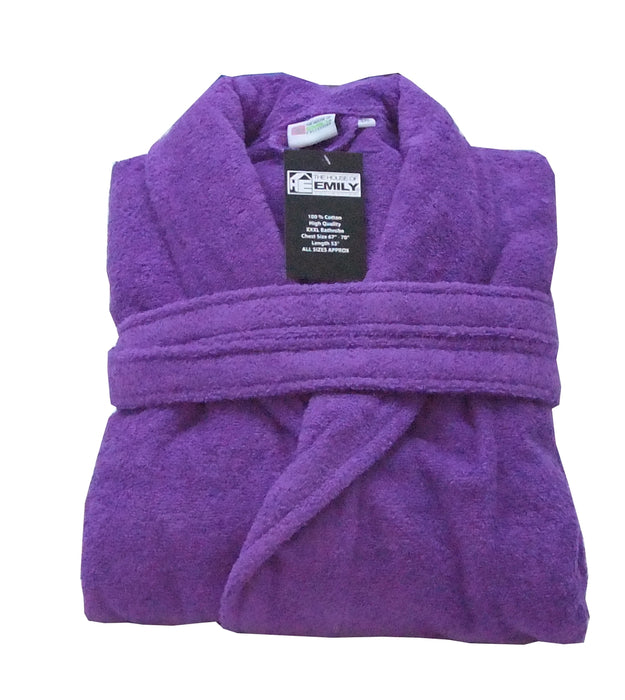 Terry Towelling Bath Robe 100% Cotton with Belt