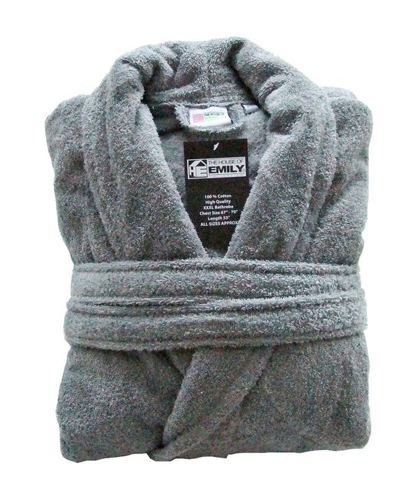 a02537e868 100% Cotton Terry Towelling Bathrobe with Belt — www.thehouseofemily.com